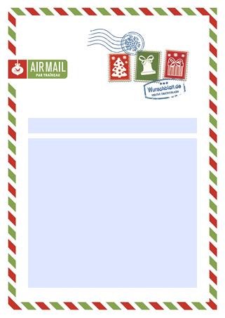Drucke Selbst Kostenloser Weihnachtsbrief Airmail 10