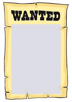 Drucke selbst! Kostenlose Vorlage WANTED Plakat
