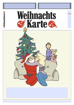 Drucke selbst witzige weihnachtskarte kostenlos gestalten - Weihnachtskarten erstellen ...