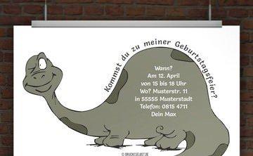 Lustige Einladungskarte. © Druckeselbst! Kostenlose Geburtstagseinladung