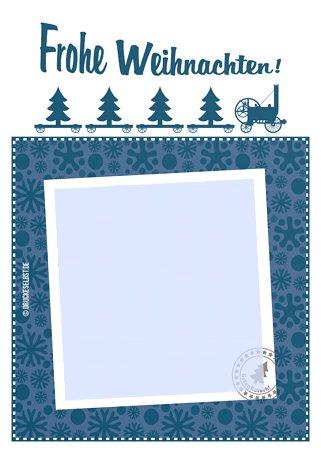Drucke selbst kostenlose vorlage frohe weihnachten - Weihnachtskarten selbst gestalten und drucken ...