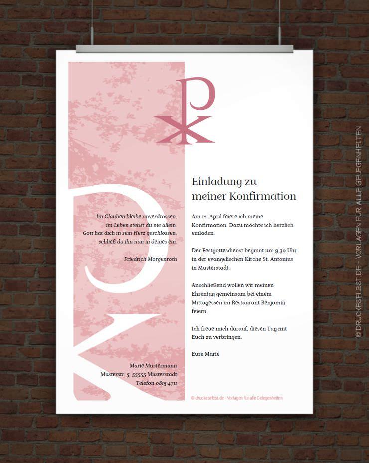 drucke selbst! kostenlose konfirmationseinladung zum ausdrucken, Einladungen