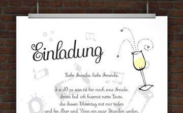 drucke selbst! kostenlose einladung zum 60. geburtstag, Einladung
