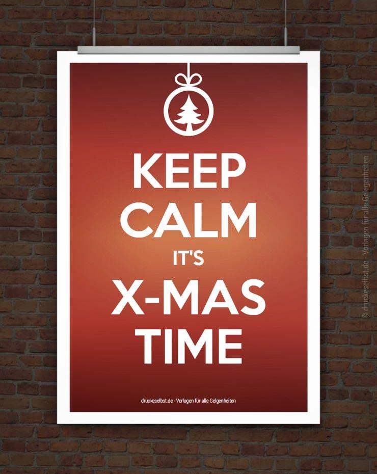 drucke selbst weihnachtskarte keep calm zum ausdrucken. Black Bedroom Furniture Sets. Home Design Ideas