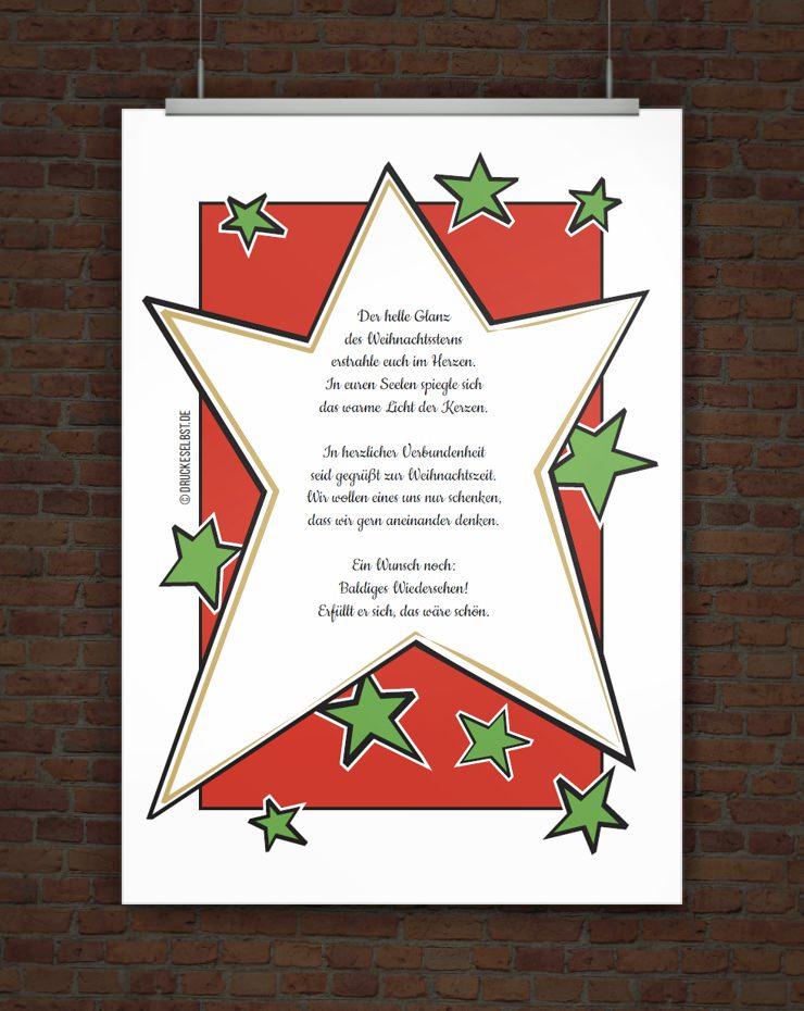 Drucke selbst weihnachtskarte online gestalten - Weihnachtskarten drucken gratis ...