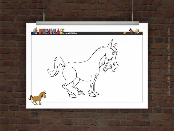 Drucke Selbst Kostenloses Ausmalbild Pferd