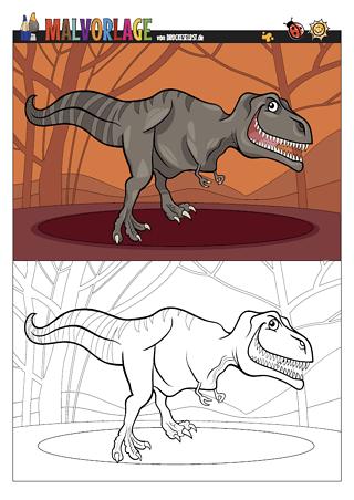 Drucke Selbst Gratis Malvorlage Ausmalbild Dinosaurier T Rex