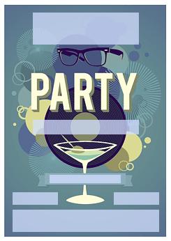 vorlage einladung cocktail-party, Haus und garten