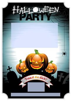 drucke selbst! einladung zur halloweenparty zum ausdrucken, Einladung