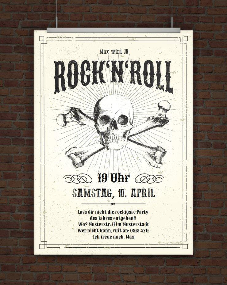Drucke Selbst Einladung Rock N Roll