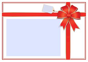 Drucke selbst! Geschenkgutschein mit Schleife