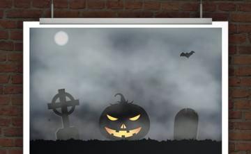 Halloween Flyer. Halloweeneinladung