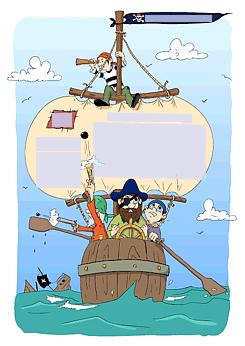 drucke selbst! einladung für einen piratengeburtstag mit lustigem, Einladung