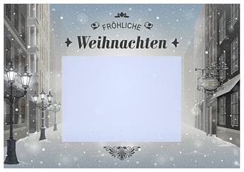 Drucke selbst! Vorlage schöne Weihnachtskarte zum Ausdrucken
