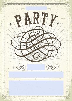 drucke selbst! vorlage vintage partyflyer, Haus und garten