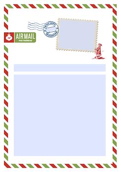 Drucke Selbst Vorlage Weihnachtsbrief Mit Foto