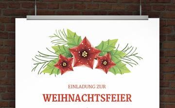 drucke selbst! einladungen weihnachtsfeier, Einladung