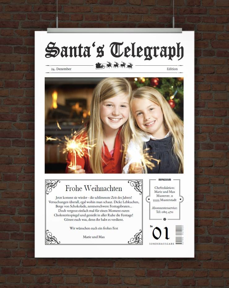 Drucke selbst vorlage lustige weihnachtskarte mit foto for Digitale weihnachtskarten kostenlos